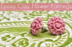 Epoxy Clay Flower Earrings