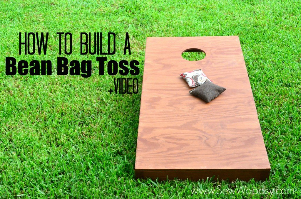 How to make a bean bags Sewing Machine How To Build Bean Bag Toss video Via Sewwoodsycom Sew Woodsy Video How To Build Bean Bag Toss Sew Woodsy