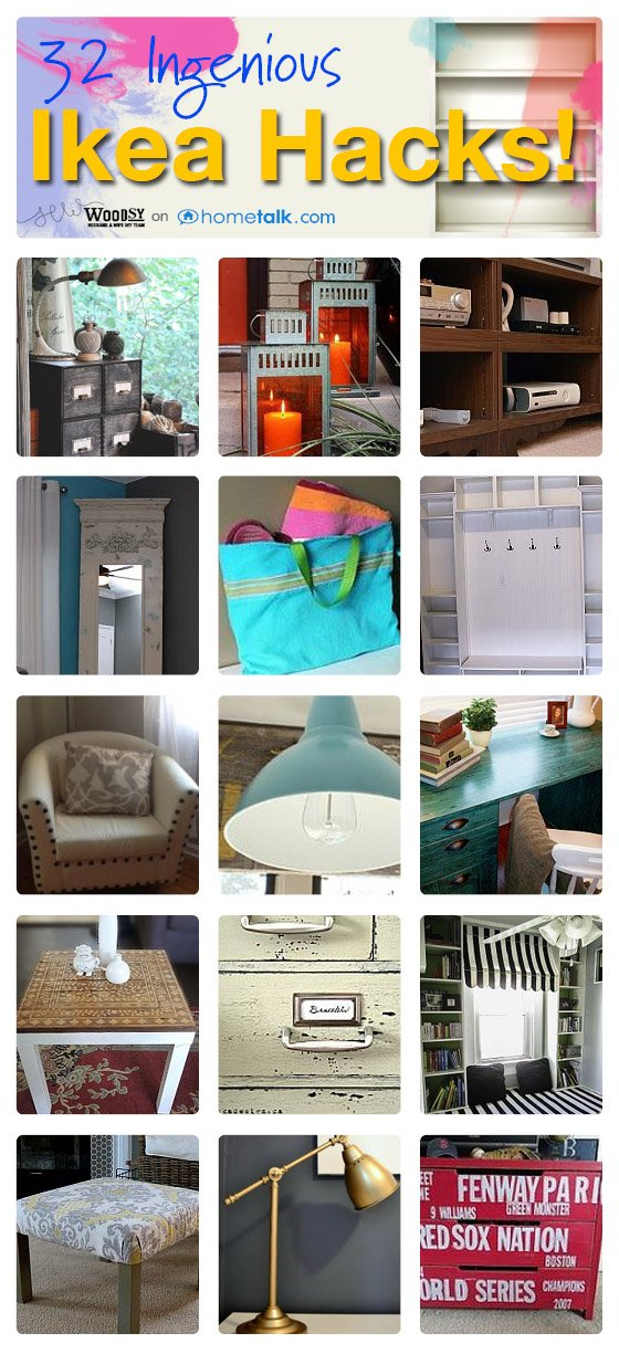 32 Ikea Hacks from SewWoodsy.com