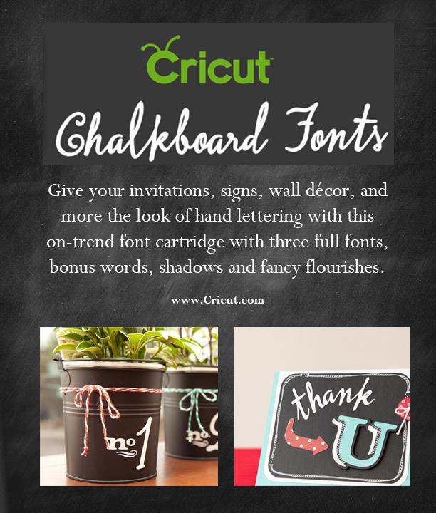 Giveaway} Cricut Chalkboard Fonts Digital Cartridge - Sew Woodsy