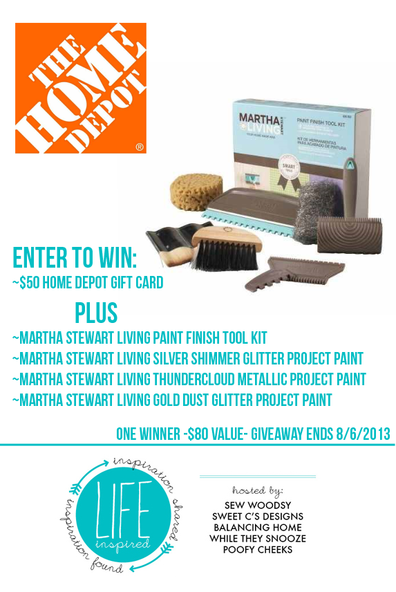 Life Inspired Weekly Link Party Giveaway with @MS_Living and @HomeDepot