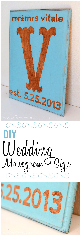 Diy Wedding Monogram Sign From Sewwoodsy Cricut Craft
