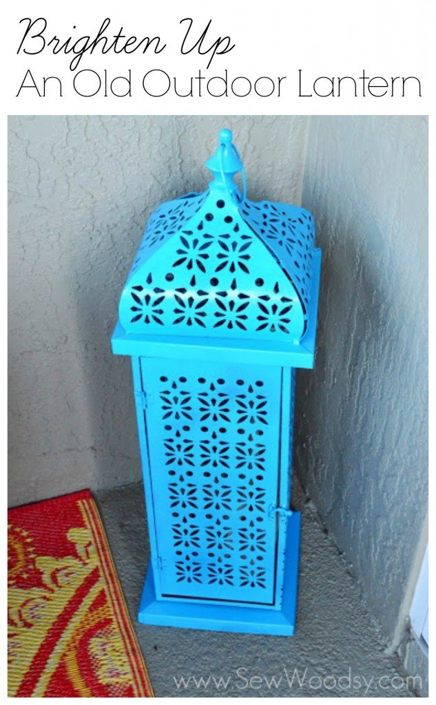 Brighten Up An Old Outdoor Lantern from SewWoodsy.com