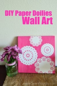 DIY Paper Doilies Wall Art
