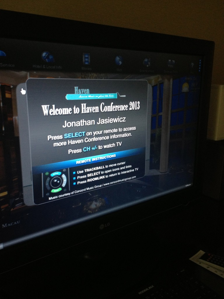 Haven Conference Personalized TV