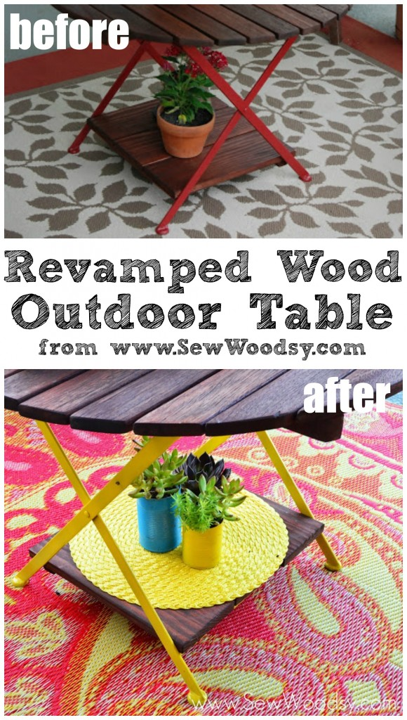 Revamped Wood Outdoor Table via SewWoodsy.com