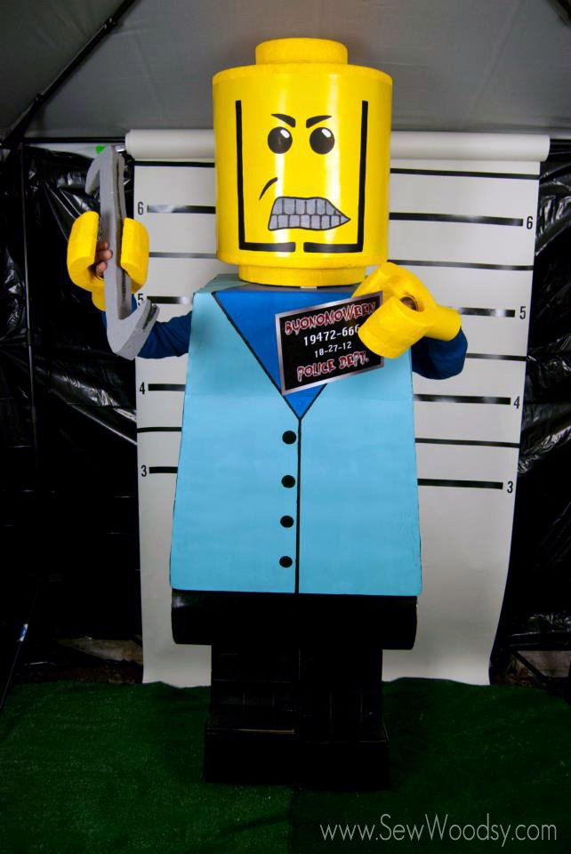 DIY Mean Lego Costume