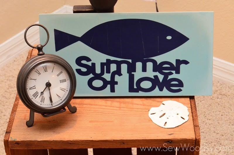Summer of Love Vinyl Sign