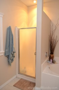 Update A Shower Glass Door from SewWoodsy.com Video created for @homesdotcom #diy
