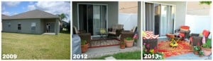 backyard before and after from SewWoodsy.com