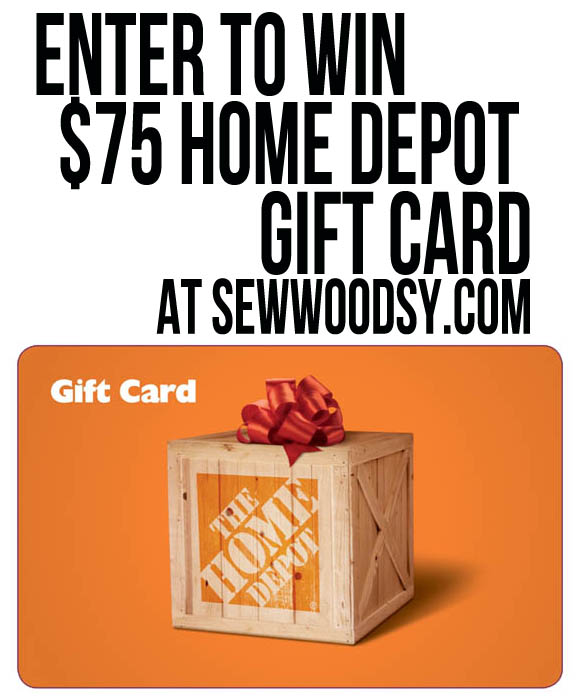 enter to win $75 @HomeDepot gift card sponsored by @ScotchBlue at SewWoodsy.com