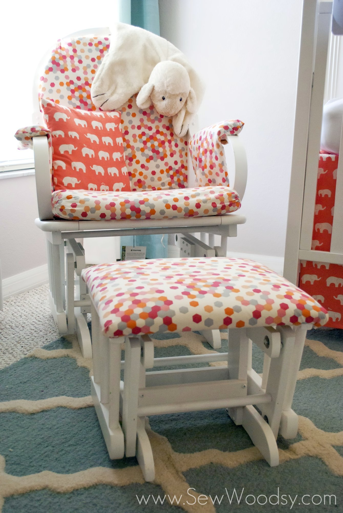 Feature Coral Amp Aqua Nursery Sew Woodsy