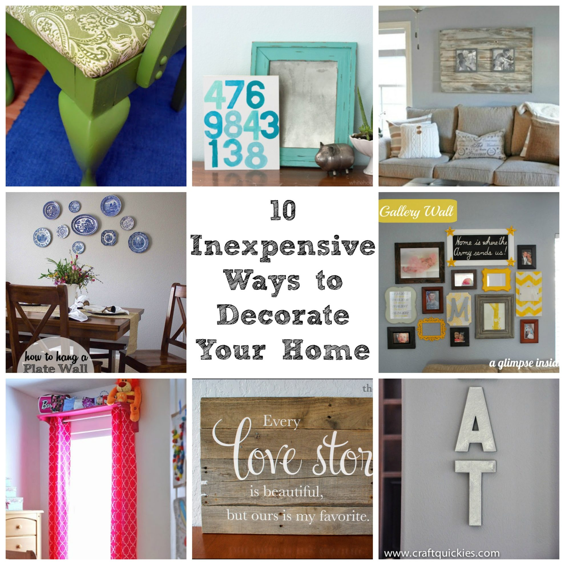 Decorate Your Home For Cheap. 10 Inexpensive Ways to Decorate Your ...