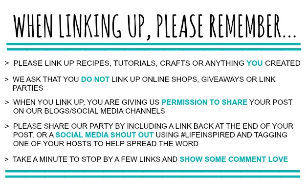 Life Inspired Link Party Rules