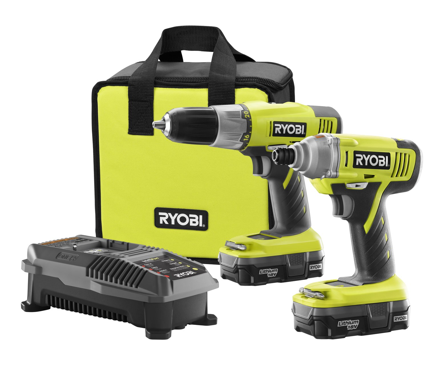 giveaway ryobi one 18 volt lithium ion drill and impact. Black Bedroom Furniture Sets. Home Design Ideas