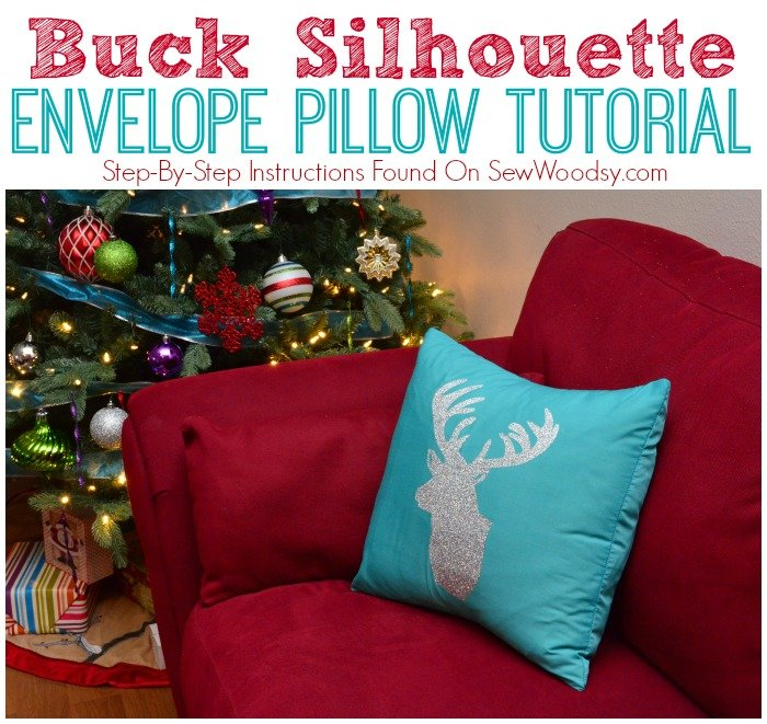Buck Silhouette Envelope Pillow Tutorial from SewWoodsy.com