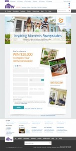 $20,000 Inspiring Moments Sweepstakes from Homes.com and HGTV!