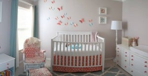 Coral and Aqua Nursery Inspirations from SewWoodsy.com