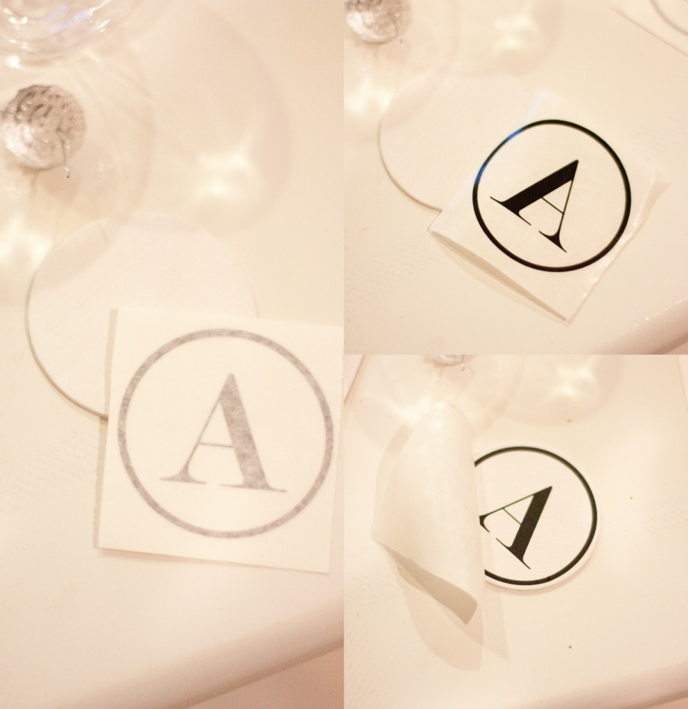 Easy Monogrammed Christmas Ornaments