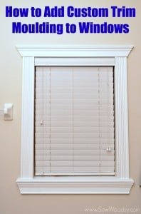 How to Add Custom Trim Moulding to Windows step-by-step video created for @homesdotcom found on SewWoodsy.com