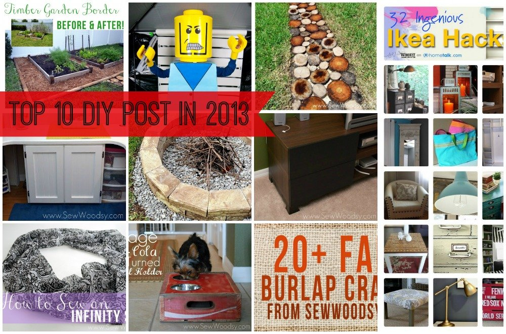 Top 10 DIY Post in 2013 from SewWoodsy.com
