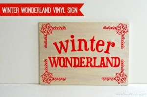 Winter Wonderland Vinyl Sign