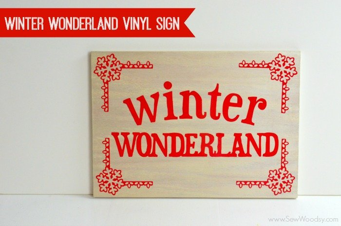 Winter Wonderland Vinyl Sign video created for @homesdotcom from SewWoodsy.com