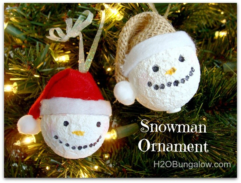 Snowman Ornament from H2o Bungalow!