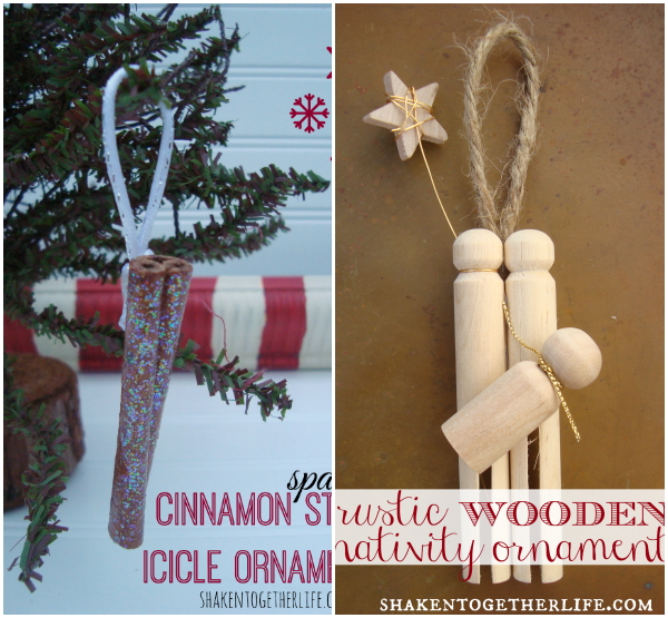 Cinnamon Curl Canning Ring Wreath Ornaments