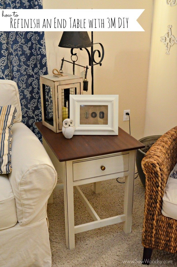 How to Refinish an End Table with #3MDIY