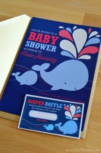 Invite and Diaper Raffle card created by StockBerry
