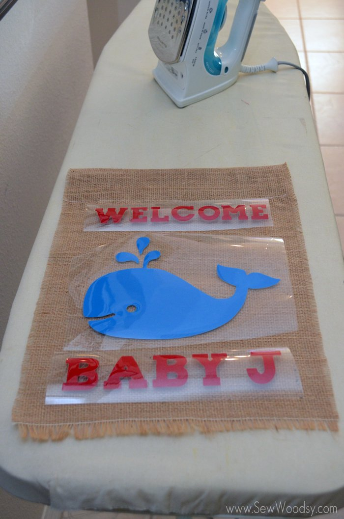 Baby Shower Whale Garden Flag