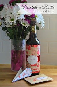 Last Minute Valentine's Day Gift for Men + Decorate a Bottle in Minutes!