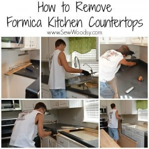Easy tips and tricks --> How to Remove Formica Kitchen Countertops from SewWoodsy.com