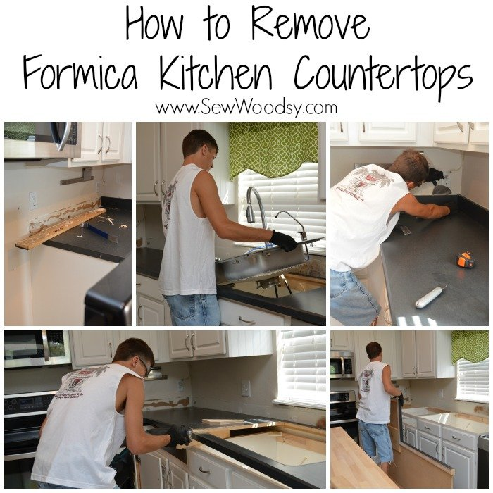 How To Remove Formica Kitchen Countertops Sew Woodsy - How to remove kitchen countertops