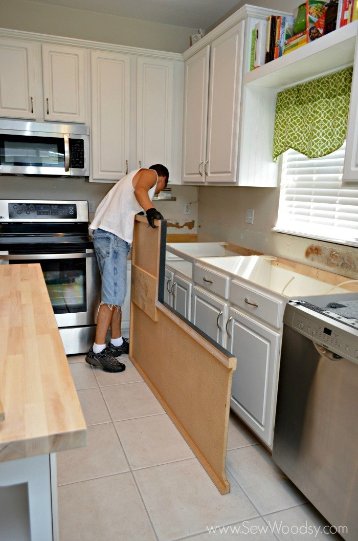Countertop Removal : And this is the last photo we will leave you with? Jon looking at ...