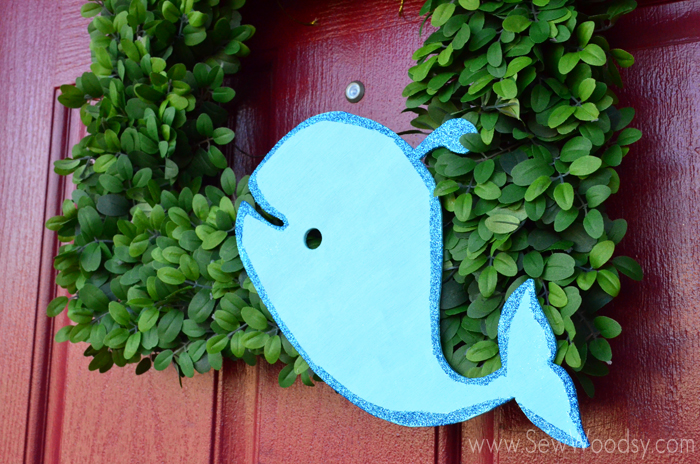 Whale Wreath Perfect for a Baby Shower