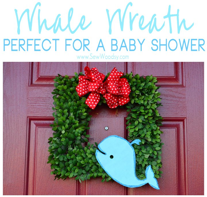 Whale Wreath - Perfect for a Baby Shower #12MonthsofMartha