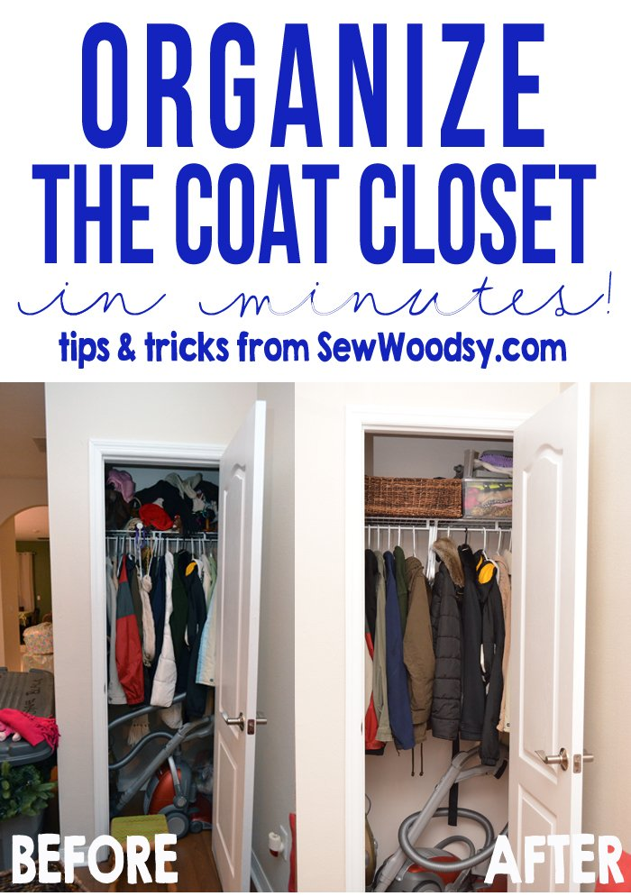 Organize The Coat Closet In Minutes    Useful Tips And Tricks Anyone Can  Use!