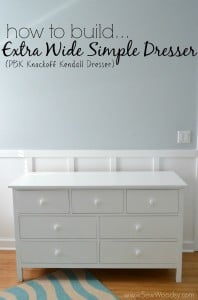 How to Build an Extra Wide Simple Dresser