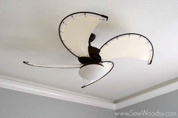 how to install a ceiling fan sew woodsy