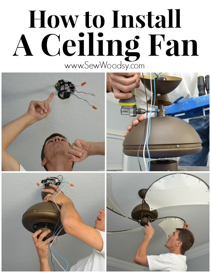 How to install a ceiling fan sew woodsy how to install a ceiling fan with lampsplus ceiling fan mozeypictures Image collections