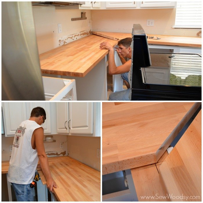 Tips tricks on installing butcher block countertops for Kitchen worktop cutting template
