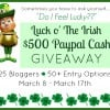 Luck O' The Irish $500 Giveaway