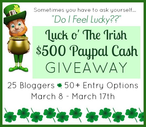 Luck O' The Irish $500 Giveaway