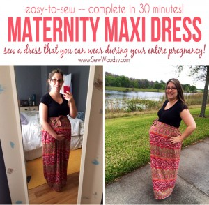 easy to sew Maternity Maxi Dress