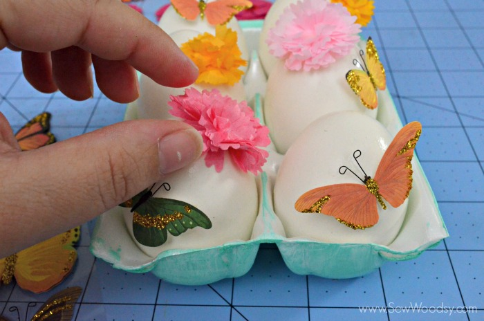 Easy Sticker Easter Eggs #12MonthsOfMartha