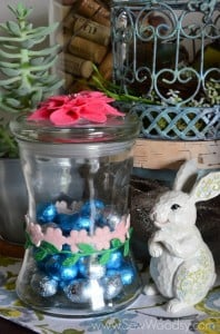 Easy Spring Floral Candy Jar