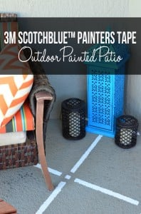 3M ScotchBlue™ Painters Tape Outdoor Painted Patio