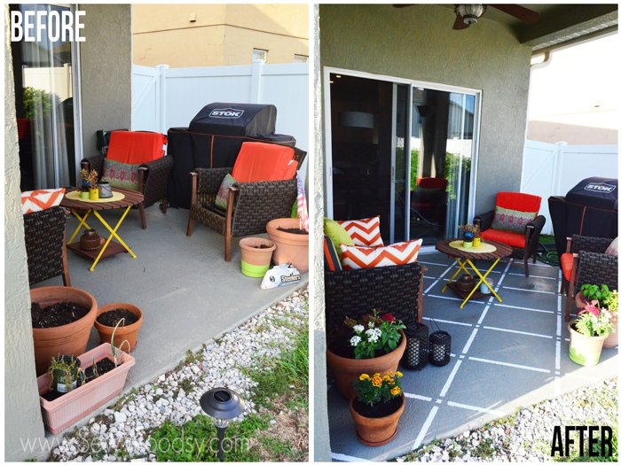 Perfect M ScotchBlue Painters Tape Outdoor Painted Patio